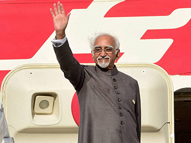 File photo of Hamid Ansari. PTI