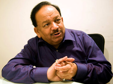 File image of Harsh Vardhan. Image courtesy: Naresh Sharma