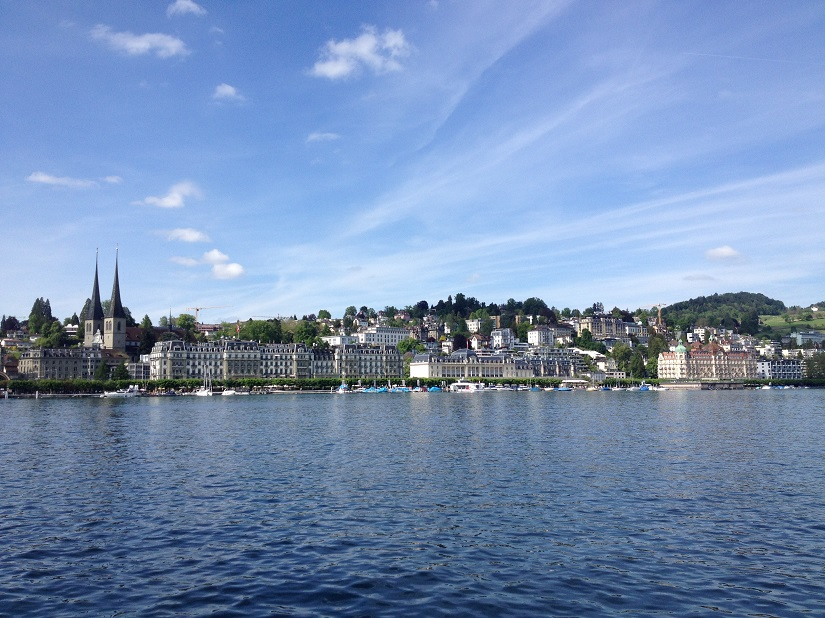 Lucerne skyline from the lake. All photos courtesy the writer