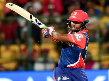 Delhi Daredevils Rishabh Pant plays a shot during the IPL 10  match against Royal Challengers Bangalore. PTI