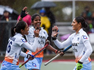 Indian women's hockey team won Women's Hockey World League Round 2. Twitter/ @FIH