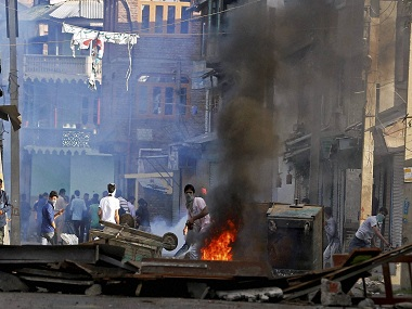 Kashmir has been in the throes of civil unrest since the summer of last year. PTI representational image