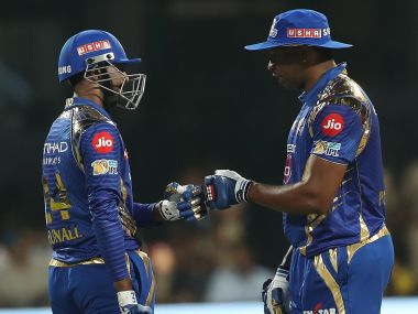 Kieron Pollard played one of his best innings in the IPL to take MI to win over RCB. IPL/SportzPics