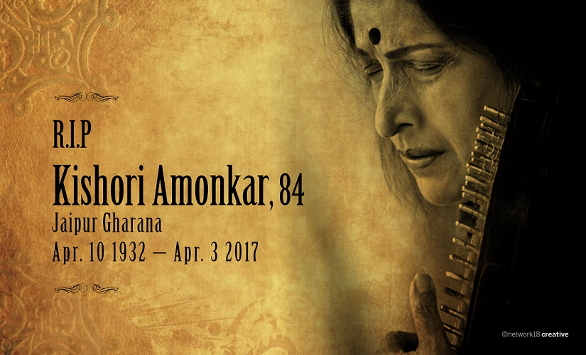 Kishori Amonkar passed away aged 84 on 3 April 2017. Image courtesy Network 18