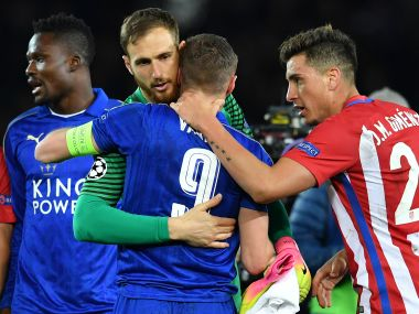 Leicester City's late surge wasn't enough as Atletico Madrid progressed to the semifinals. AFP