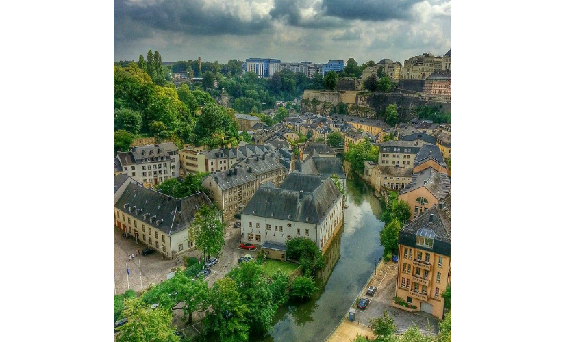 A view of River Alzette from the Bock. Firstpost/Vishnupriya Bhandaram