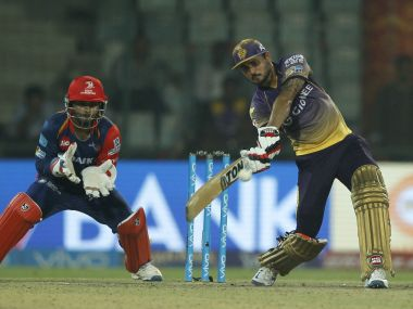 Manish Pandey showed great composure under pressure to guide KKR to win over DD. Image Courtesy: IPL/SportzPics