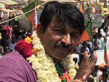 Delhi BJP chief Manoj Tiwari. Image courtesy: Twitter