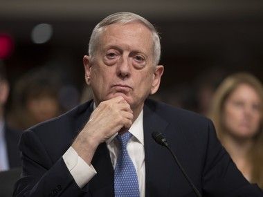 File image of Defence Secretary James Mattis. AP