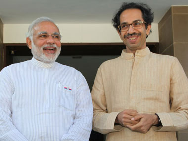 A file photo of Prime Minister Narendra Modi and Shiv Sena chief Uddhav Thackeray. PTI