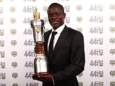 collecting the award at a ceremony on Sunday. Image courtesy: Twitter/@nglkante