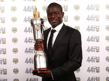 N'Golo Kante was awarded the PFA Player of the year for 2016/17 season. Twitter/@PFA