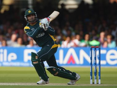Shahzaib Hasan of Pakistan in action during the ICC World Twenty20. Getty Images
