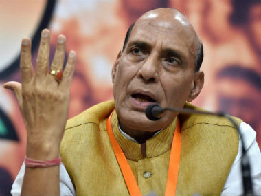 Union Home Minister Rajnath Singh. PTI