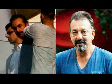 Ranbir Kapoor in Sanjay Dutt's biopic. Images via Facebook.