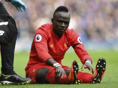 Liverpool's Sadio mane suffered an injury during AFP