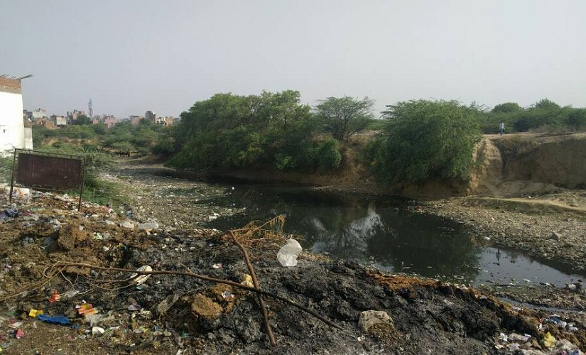 Backyard of Sangam Vihar: Filth, garbage, dirty nullahs — a perfect breeding ground for vector-borne diseases. Image courtesy: Debobrat Ghose