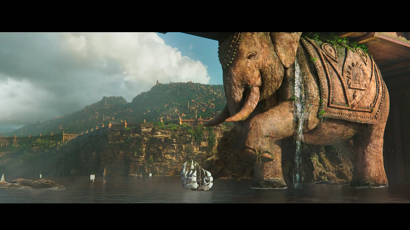 Screengrab of VFX for Baahubali