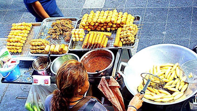Street food at Siam Square