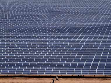 A solar field in Gujarat. AP Photo