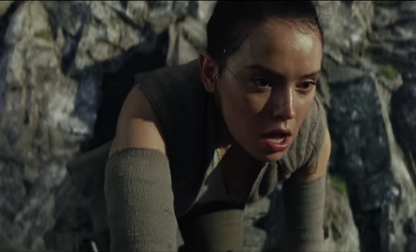 A still from the Star Wars: The Last Jedi trailer. Youtube screengrab