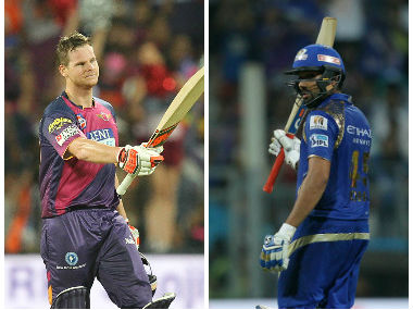 Steve Smith and Rohit Sharma, captain of Rising Pune Supergiant and Mumbai Indians respectively. Sportzpics