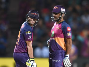 Steve Smith (L) and MS Dhoni will be hoping to lead Rising Pune Supergiant to another win in Indore. AFP