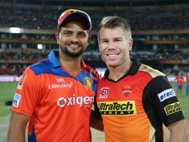 File photo of Suresh Raina and David Warner, GL and SRH captains respectively. Sportzpics