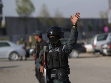 Security forces in Afghanistan. AP
