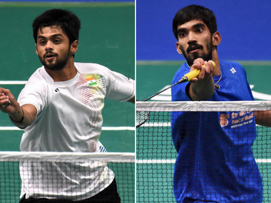 File photo of B Sai Praneeth and Kidambi Srikanth. AFP