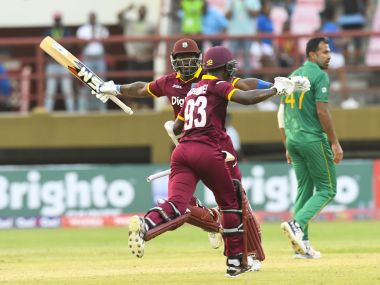 West Indies chased a total in excess of 300 to beat Pakistan in the 1st ODI. AFP