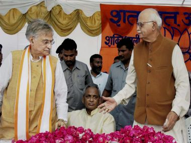 File photo of LK Advani and Murli Manohar Joshi. PTI