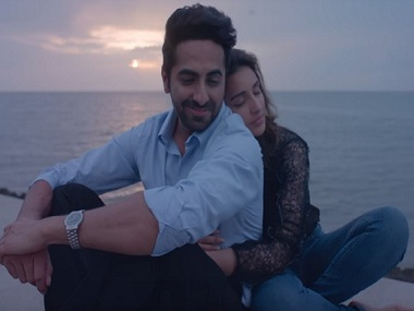 Ayushmann Khurrana and Parineeti Chopra in a still from Meri Pyaari Bindu. YouTube
