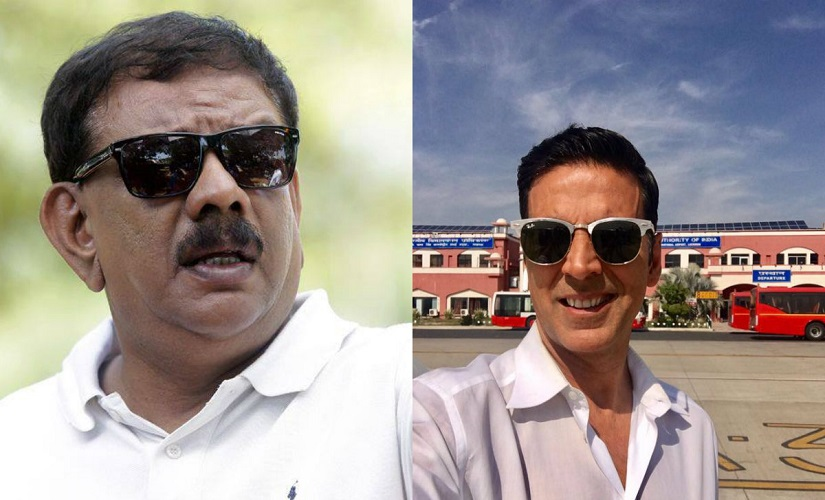 Priyadarshan and Akshay Kumar. Images from Facebook