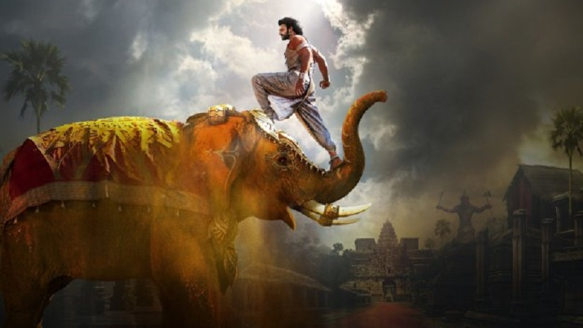 Prabhas in a poster for Baahubali 2: The Conclusion