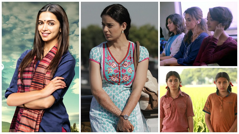 How do Hindi cinema's 'women-centric' films like Piku, Queen, Pink and Dangal fare on the Bechdel test?