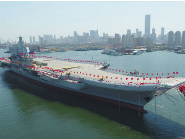 China's first domestically built aircraft carrier. AP