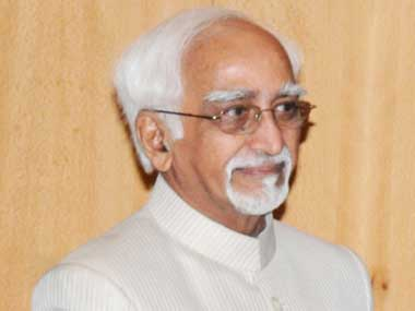 File image of Hamid Ansari. Press Information Bureau