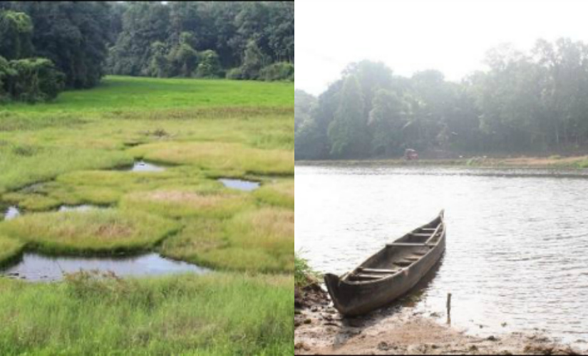 Varachal before the implementation of Haritha Keralam Mission (lef) and Varachal after revival. Photo courtesy: Govt of Kerala