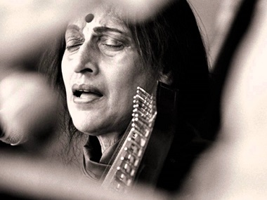 Kishori Amonkar. Image courtesy YouTube