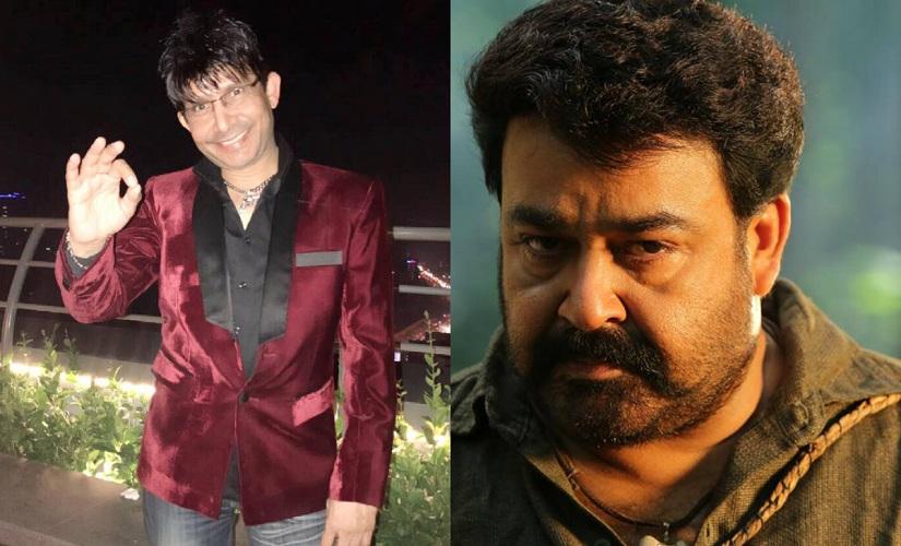 KRK and Mohanlal. Images from Facebook