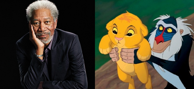 (L-R) Morgan Freeman, and Timon the meerkat. Image courtesy: Creative Commons.
