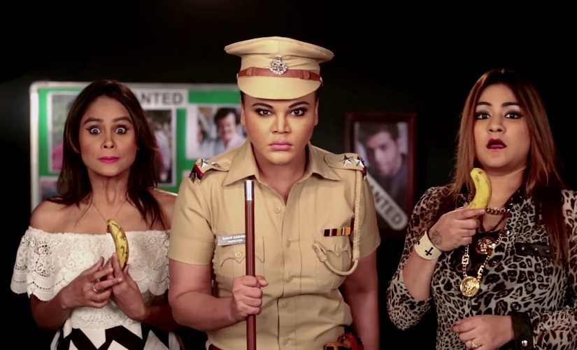 Rakhi Sawant in Rakhi in Khaki. Youtube screengrab