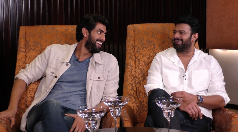 Baahubali stars Rana Daggubati and Prabhas on the sets of Firstpost's show, 'Gossip Guy'