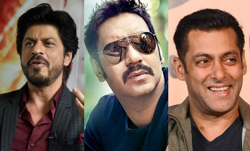 Shah Rukh Khan, Ajay Devgn and Salman Khan. Images from News18