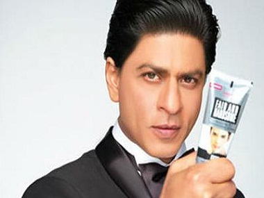Shah Rukh Khan in a fairness cream commercial. Twitter