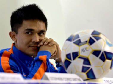 File photo of Sunil Chhetri. AFP