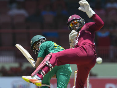 Action from the second ODI between West Indies and Pakistan. AFP