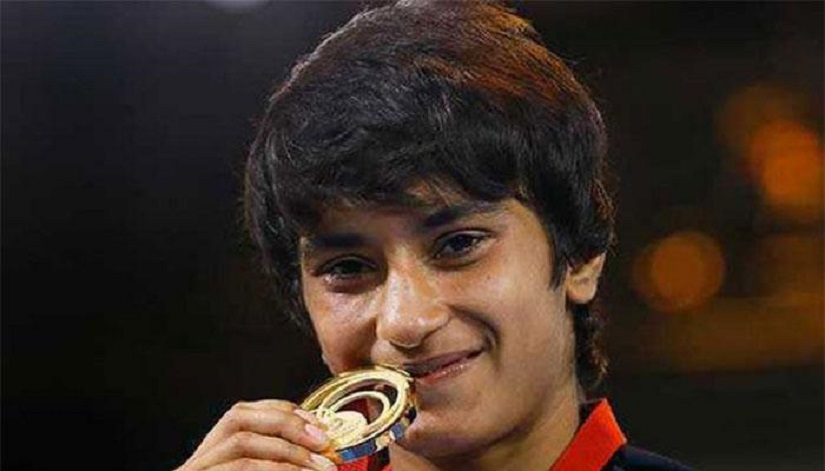 File image of Vinesh Phogat. AP