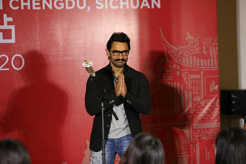 Aamir Khan attends 'Dangal' press conference on April 20, 2017 in Chengdu, China. (Photo by VCG/VCG via Getty Images)